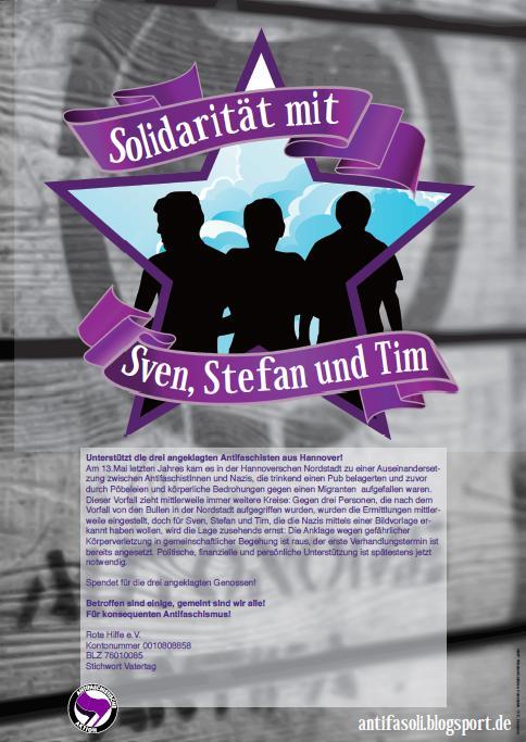 Solidarität mit Sven, Stefan & Tim!